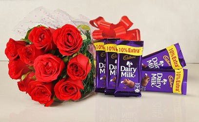 Flower with Chocolates