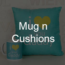 Personalised Mugs and Cushions for Father's Day