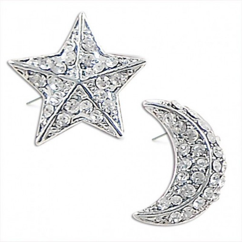 Moon n Star Earrings