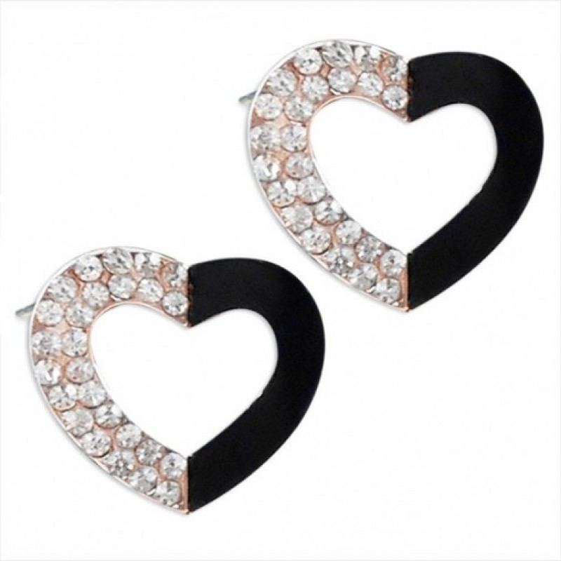 Embellished Heart Studs