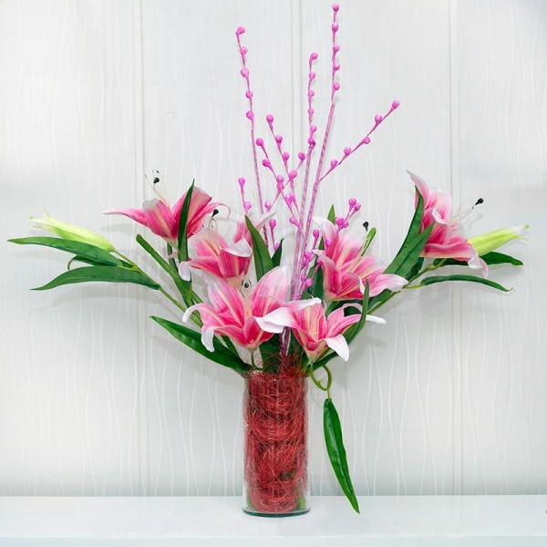 Artificial Pink Flower Arrangement