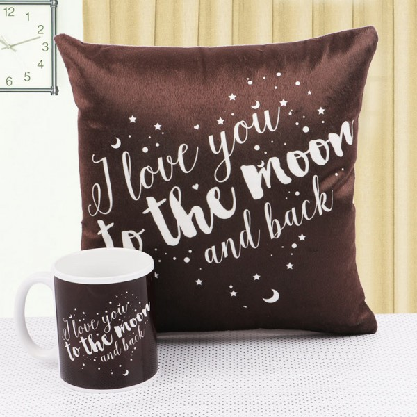 Love Theme Mug and Cushion