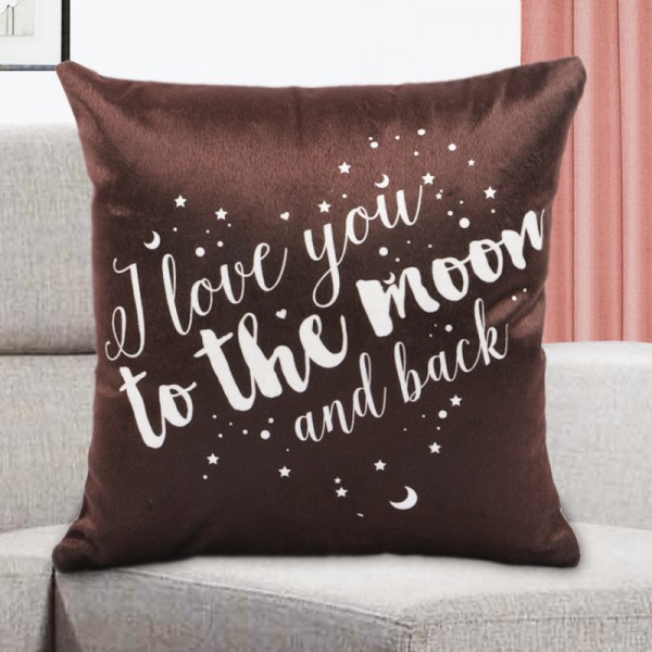 Love Theme Printed Cushion