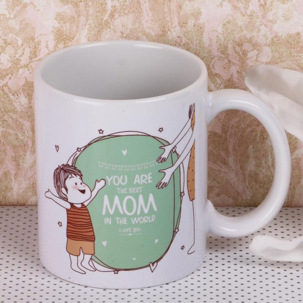 Best Mom Printed Mug