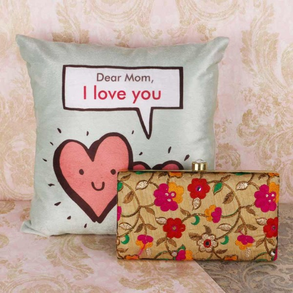 Printed Cushion and Purse for Mother