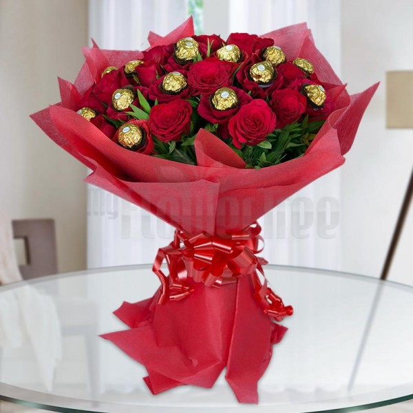 Flowers Chocolate Bouquet