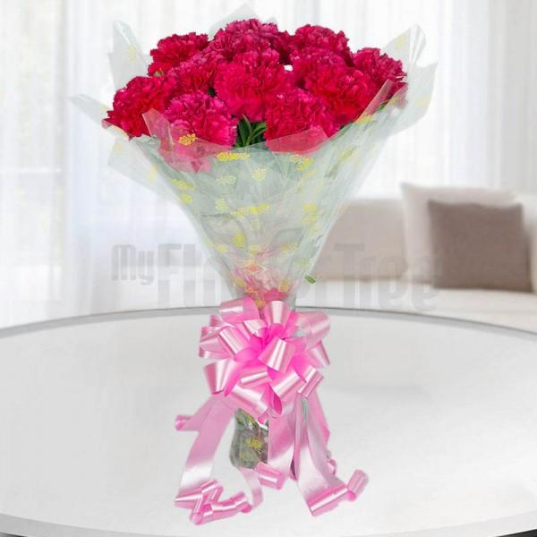 Pink Carnations Bouquet