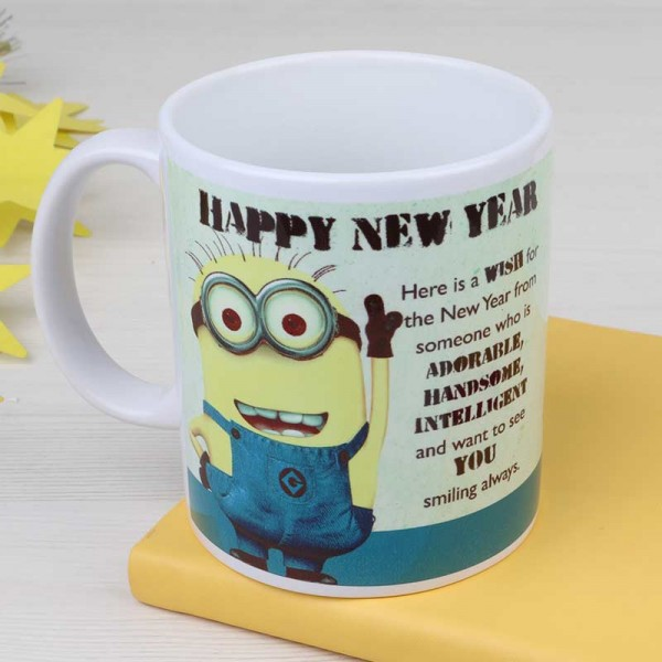 Happy New Year Minion Mug