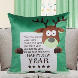 Rudolph New Year Cushion