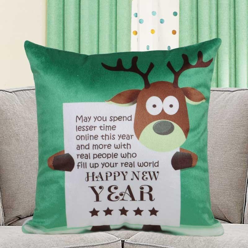 Rudolph New Year Cushion