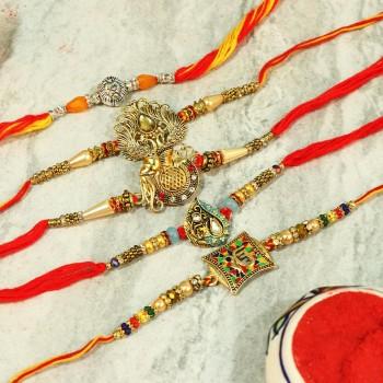 Magnificent Designer Rakhi Combo