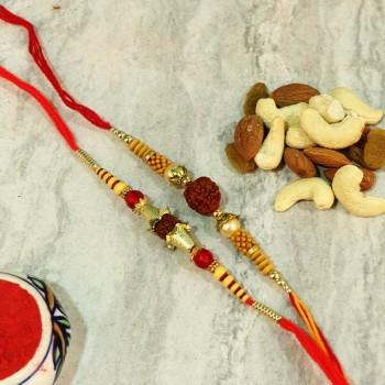Set Of Rakhi N Dryfruit