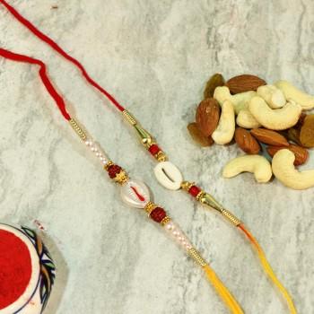 Lovely rakhi Sets N Dryfruits Combo
