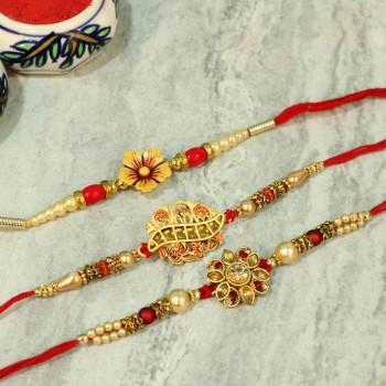Alluring Floral Designer Rakhi Set