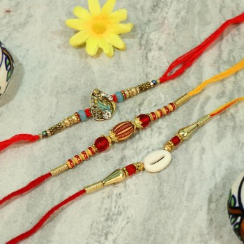 Pack of Charming Rakhis with Jewels