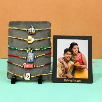 Eye catching Photo frames Rakhi sets