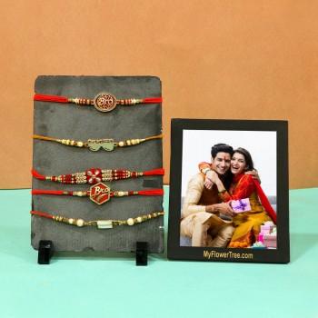 Designer Rakhis and Photoframe treat for bro