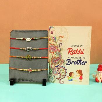 Amazing cards and designer rakhi Combos