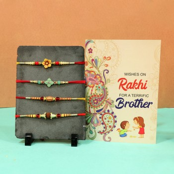 Enchanting Rakhis N Greeting card Sets