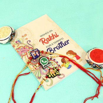 Astonishing Greeting Card N Rakhi