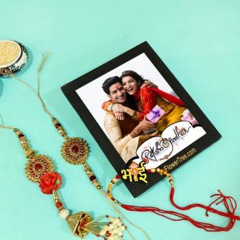 Pretty Rakhi N Photo Frame