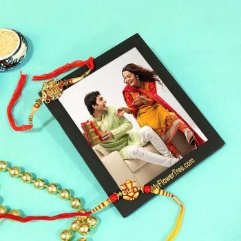 Eye-Catching Rakhi With Photo Frame