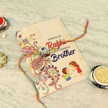 Attractive Kids Rakhi N Greeting card set