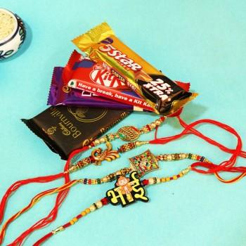 Bewitching Rakhi Set N Chocolate