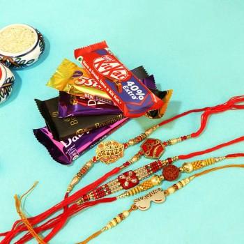 Family Rakhi sets with Choco Combos
