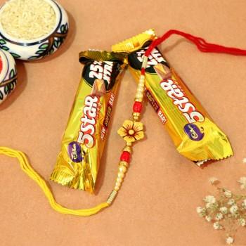 5 Star Floral Rakhi Combo