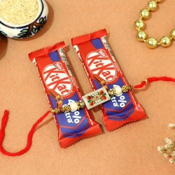 Kit Kat with Traditional Rakhi Combo
