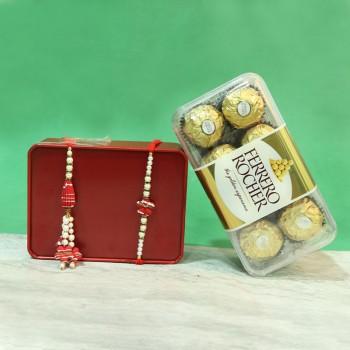 Beaded Ruby Lumba Ferrero Set