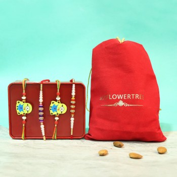 Family Rakhi Pack with Almond