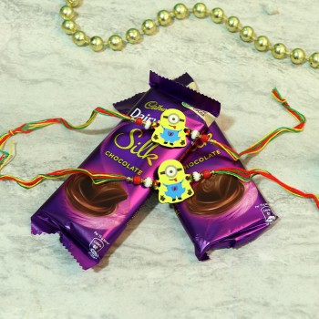 Adorable Minion Rakhi Choco Combo