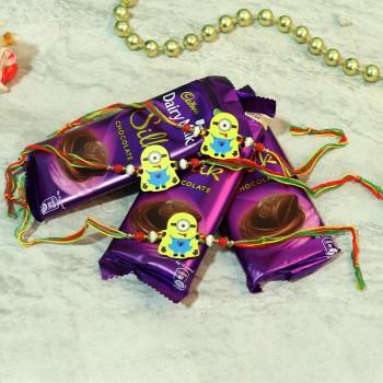 Trio Minion Rakhi Choco Pack
