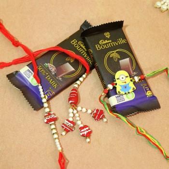 Alluring Rakhi Sets With Chocos