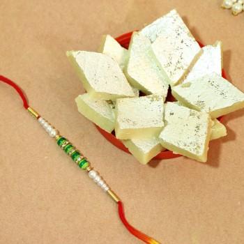 Amazing Treat Rakhi and Kajukatli