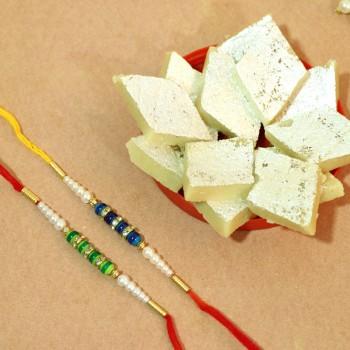 Heart-Winning Rakhi With Sweet