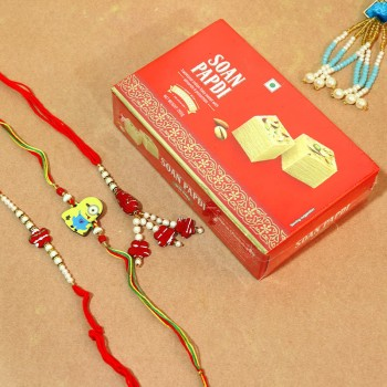 Delectable Rakhis with sweets