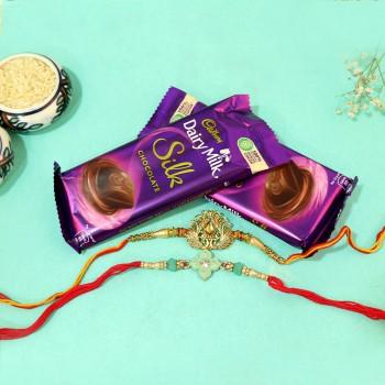 Elegantly Delicious Rakhi Combo