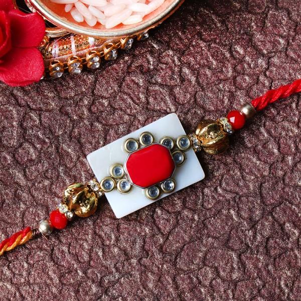 Elegant Kundan Rakhi