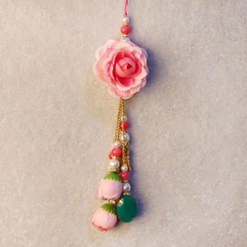Pink Rose Lumba Rakhi