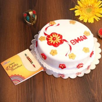 Bhai Cake an Rakhi Combo