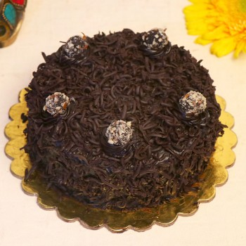 Half Kg Round Shape Designer Truffle Cake