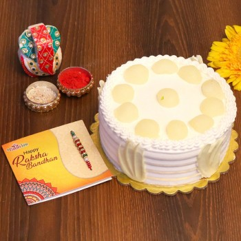 Rakhi With Cake Shopping Online