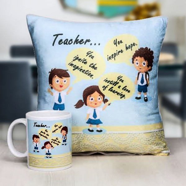 Printed Mug and Cushion for Teacher