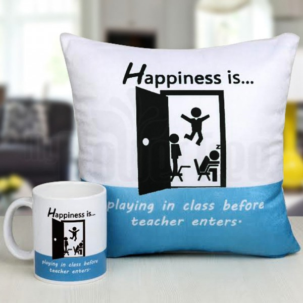 Printed Quote Mug and Cushion