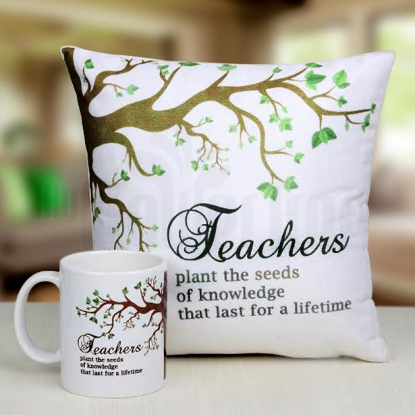 Cushion and Mug for Teacher