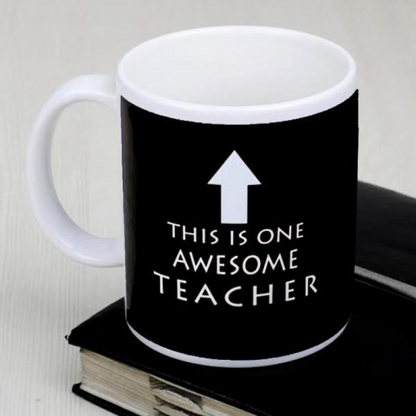 White Printed Mug for Teacher