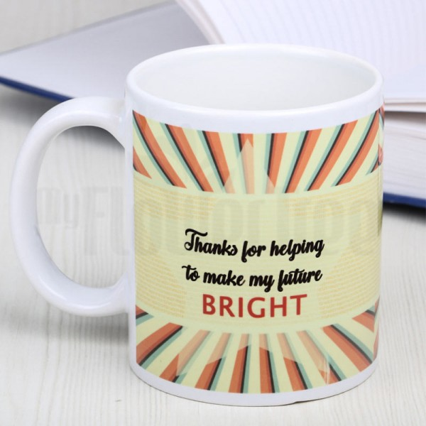 Printed Quote White Mug